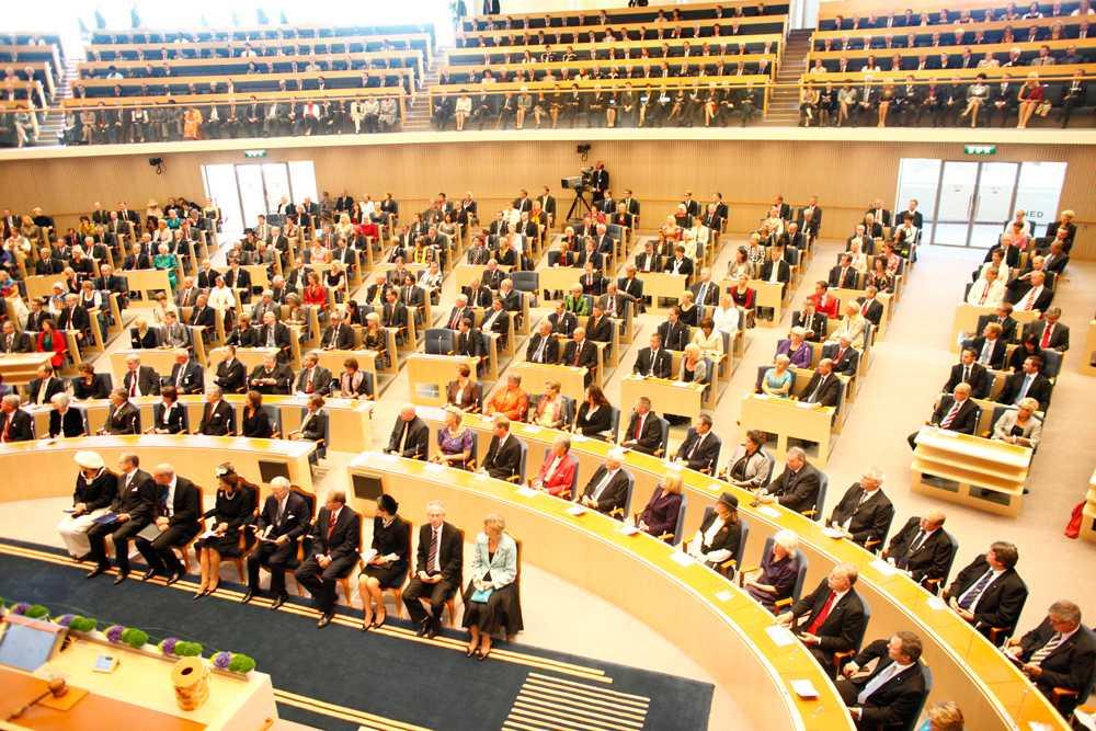 Sveriges riksdags plenisal.