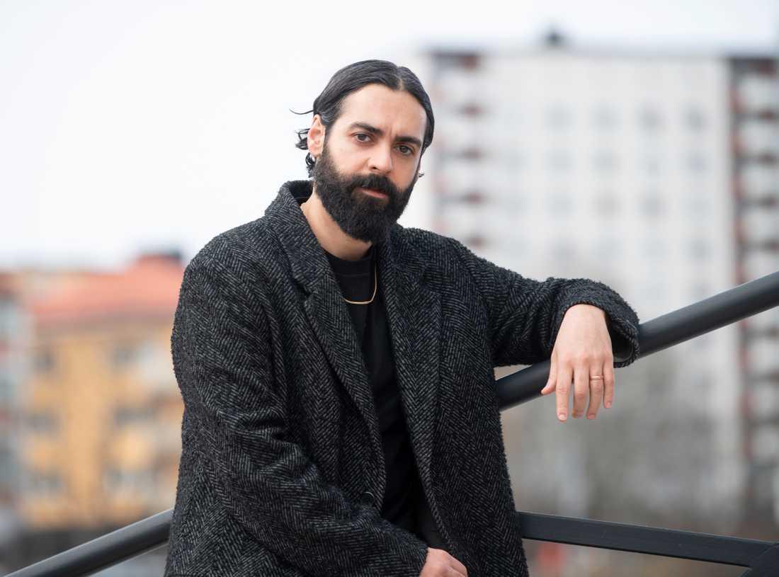 """Ardalan Esmaili spelar den desperate pappan Salle i SVT:s nya thrillerserie """"Snöänglar""""."""