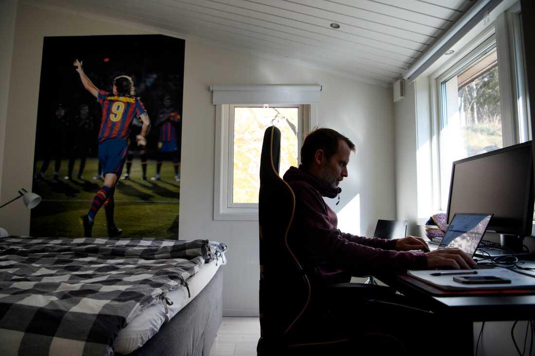 Många är vi som jobbar hemma. Arkivbild.