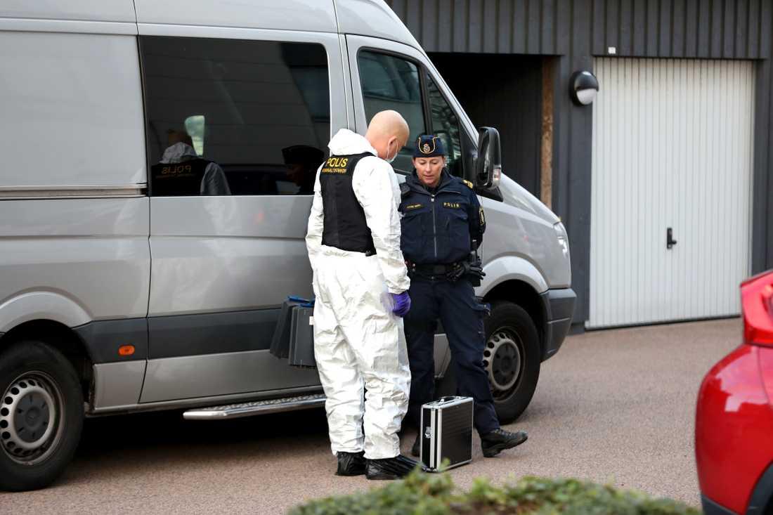 Kriminaltekniker och polis i Arlöv.