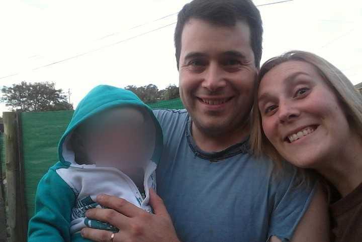 Fernando Santilli med sin fru och son.