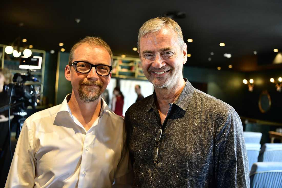 Tv-produdenten Anders Lenhoff tillsammans med Christer Björkman