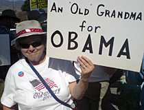 Mary Jackson, 68, har bestämt sig. Barack Obama får hennes röst.