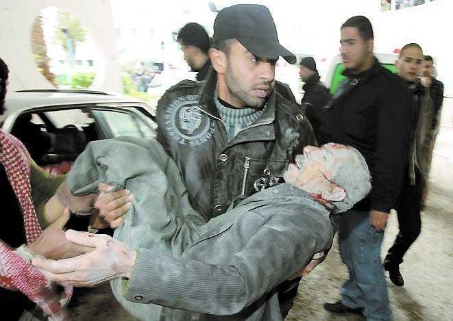 """""""Monumentalt katastrofområde"""" Bilderna som kablas ut från det allmer sönderbombade Gaza visar hur hårt de israeliska attackerna drabbar civilbefolkningen Enligt Gazas hälsominister har 46 barn och 25 kvinnor mist sina liv."""