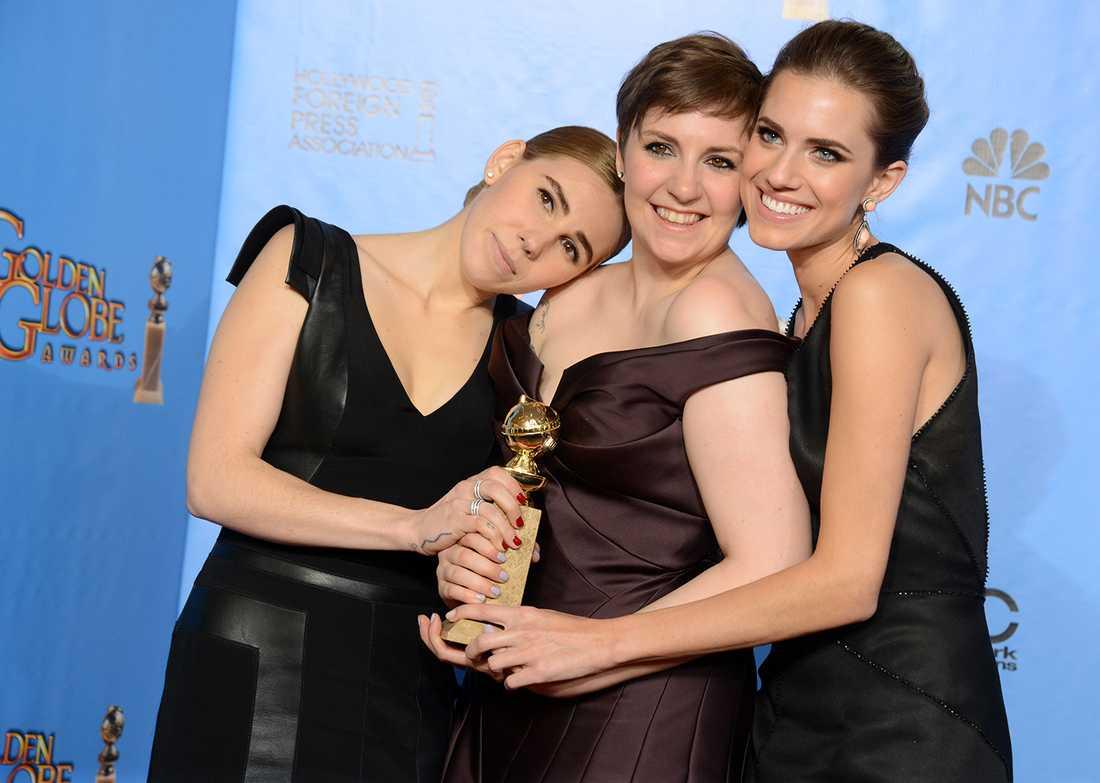 """Lena Dunham tillsammans med kollegorna Zosia Mamet och Allison Williams i """"Girls""""."""