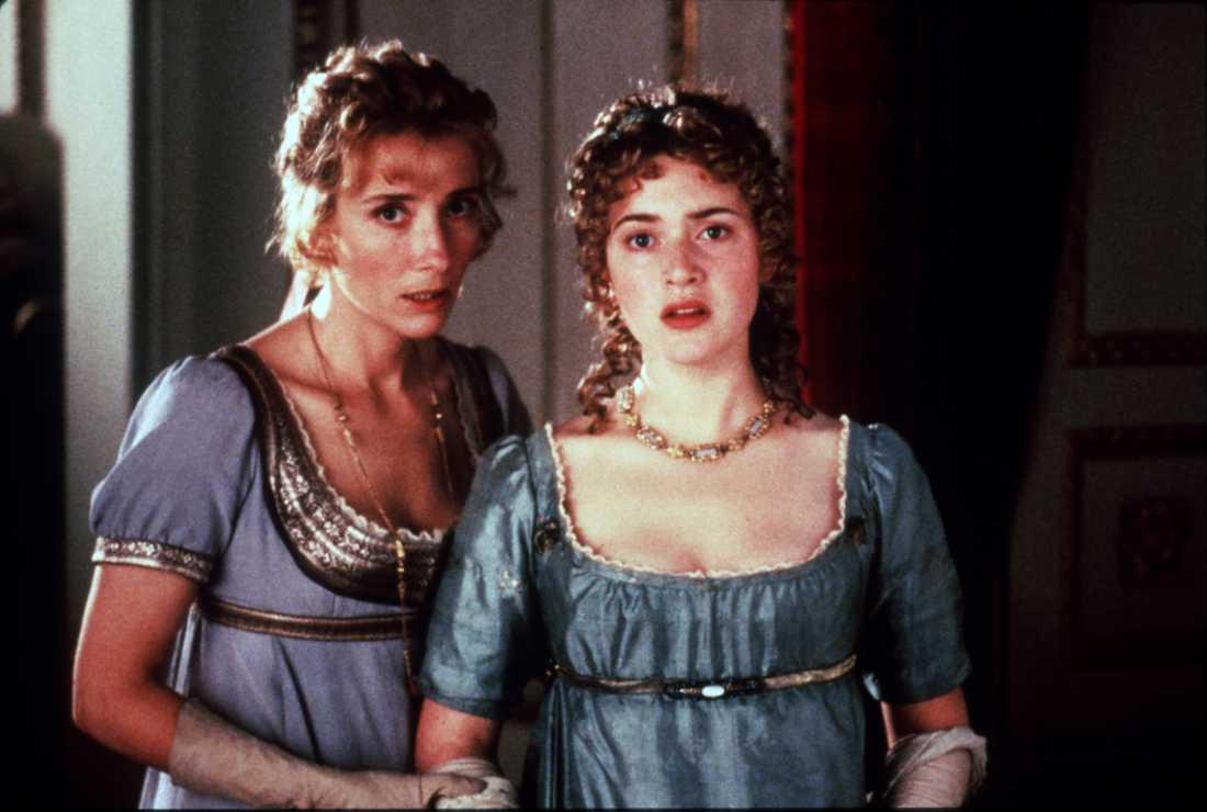 """Kate Winslet har nominerats till en Oscar sju gånger och vunnit en. Här i """"Förnuft och känsla"""" mot Emma Thompson 1996, som var den första filmen hon nominerades för."""