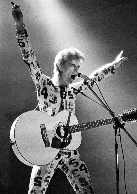 """Stilikon  1972 lanserade David Bowie en platta som kom att få stort genomslag ända fram i vår tid: """"The rise and fall of Ziggy Stardust and the spiders from Mars""""."""