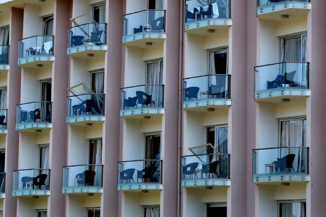 Ett hotell i närheten skadades i explosionen.