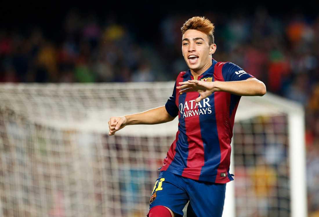 Munir El Haddadi nätade i sin debut för Barcelona.