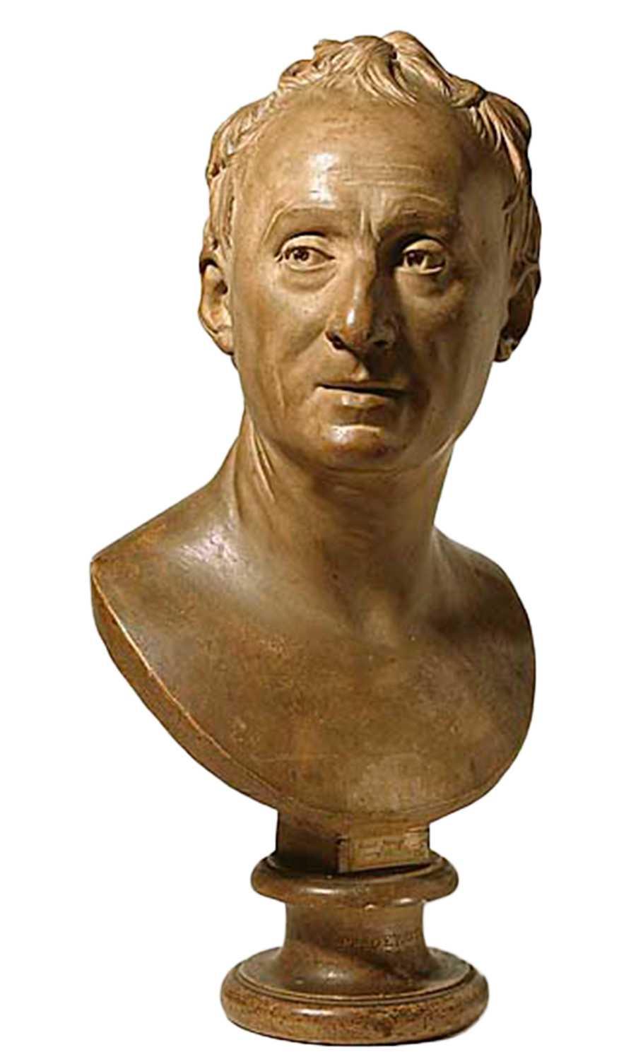 Denis Diderot, byst av Jean Antoine Hudon. Foto: Erik Cornelius/National Museum