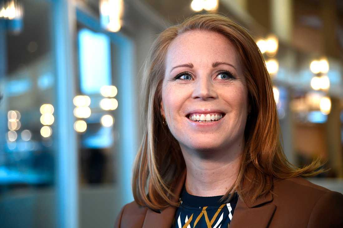 Annie Lööf, Centerpartiets partiledare.
