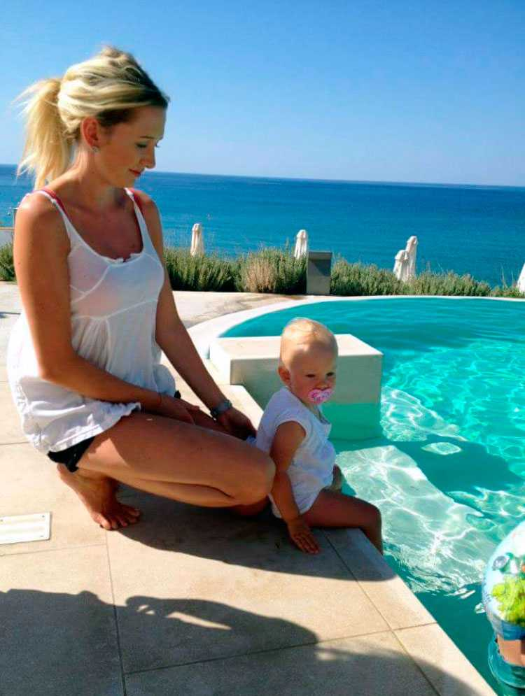 Natalie Boberg semestrade på hotellet i september.