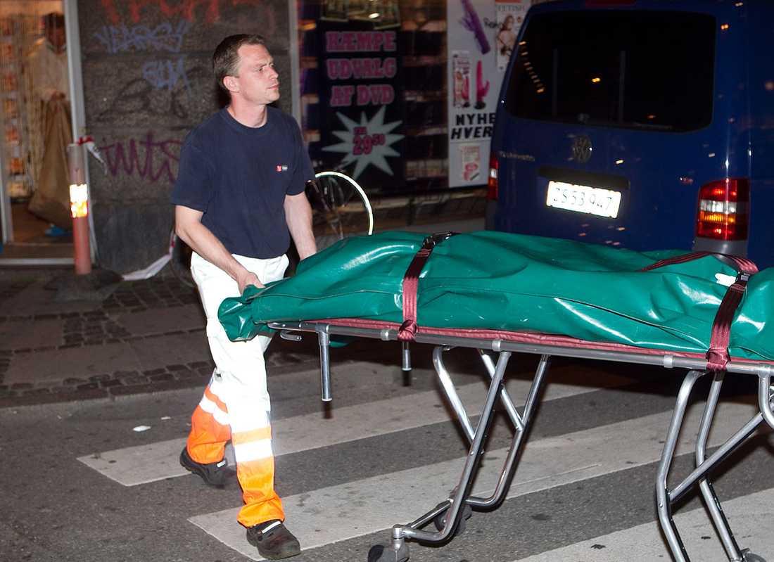 En man dödades på en porrbiorafi i Köpenhamn.