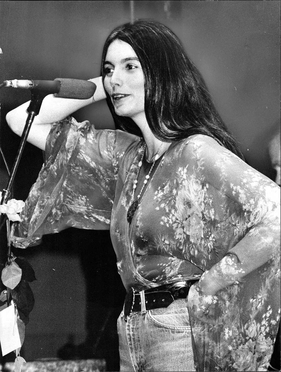 Emmylou Harris i Stockholm 1978.