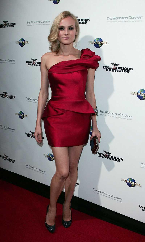 Diane Kruger är urläcker i Marchesa på filmpremiär.
