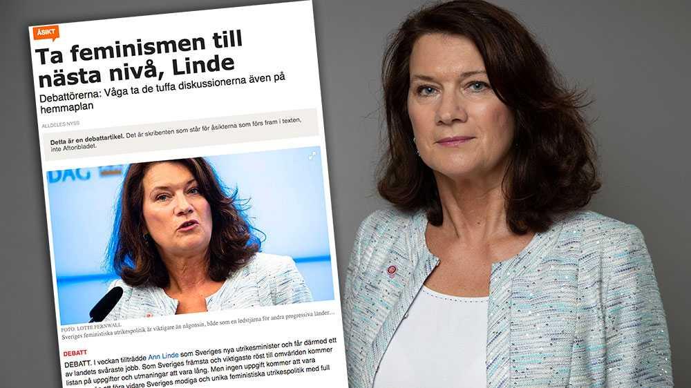 Jag håller med, och mitt besked är tydligt: Sverige ska fortsätta att driva en feministisk utrikespolitik. Med full kraft, världen över, skriver Ann Linde (S) i en replik.
