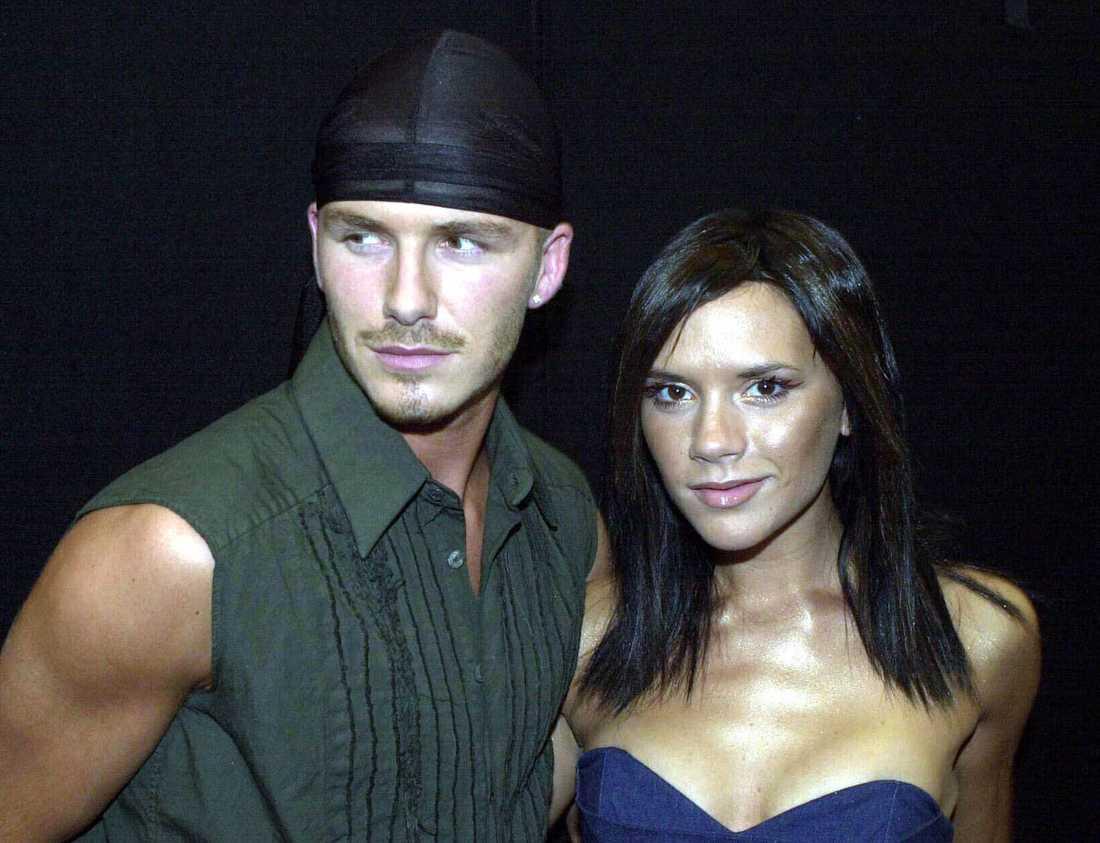 David och Victoria Beckham i juli 2000.