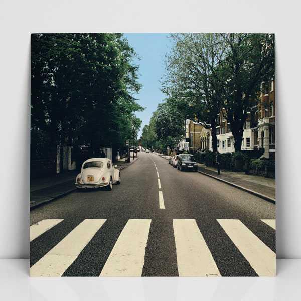 Abbey Road utan felparkerad bubbla