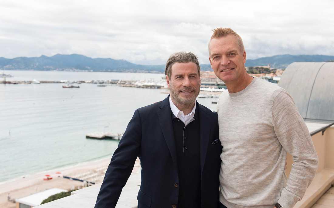 John Travolta och Aftonbladets Magnus Sundholm