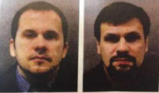 Alexander Petrov och Ruslan Boshirov pekas ut som ansvariga för nervgiftsattacken.
