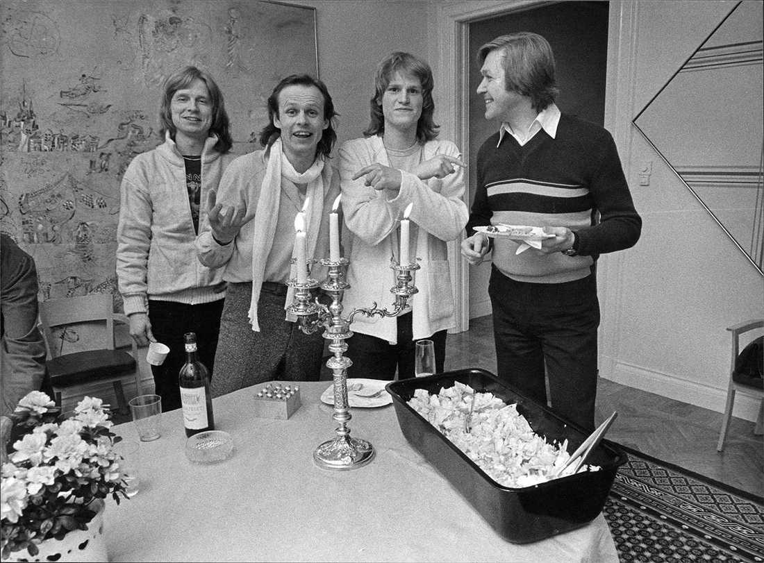 Janne Schaffer, Kenneth Gärdestad, Ted Gärdestad och Lars Samuelson 1979.