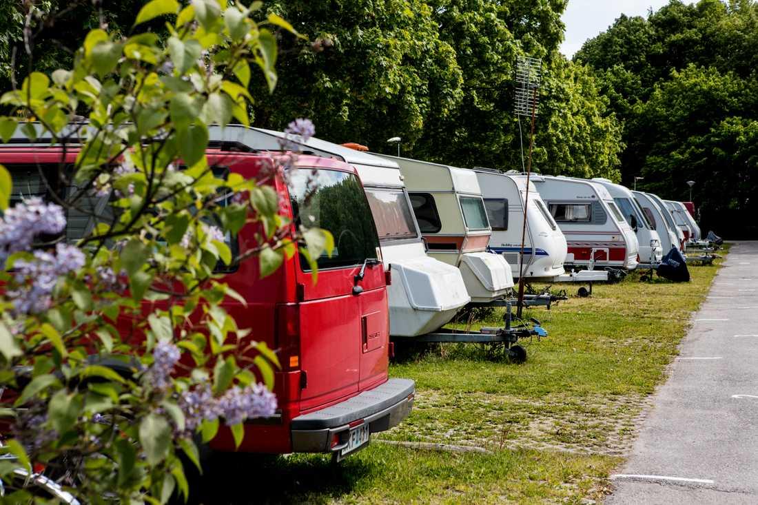 Campingen slår rekord i sommar när allt fler svenskar att spendera semestern hemma i stället för att åka utomlands. Arkivbild.