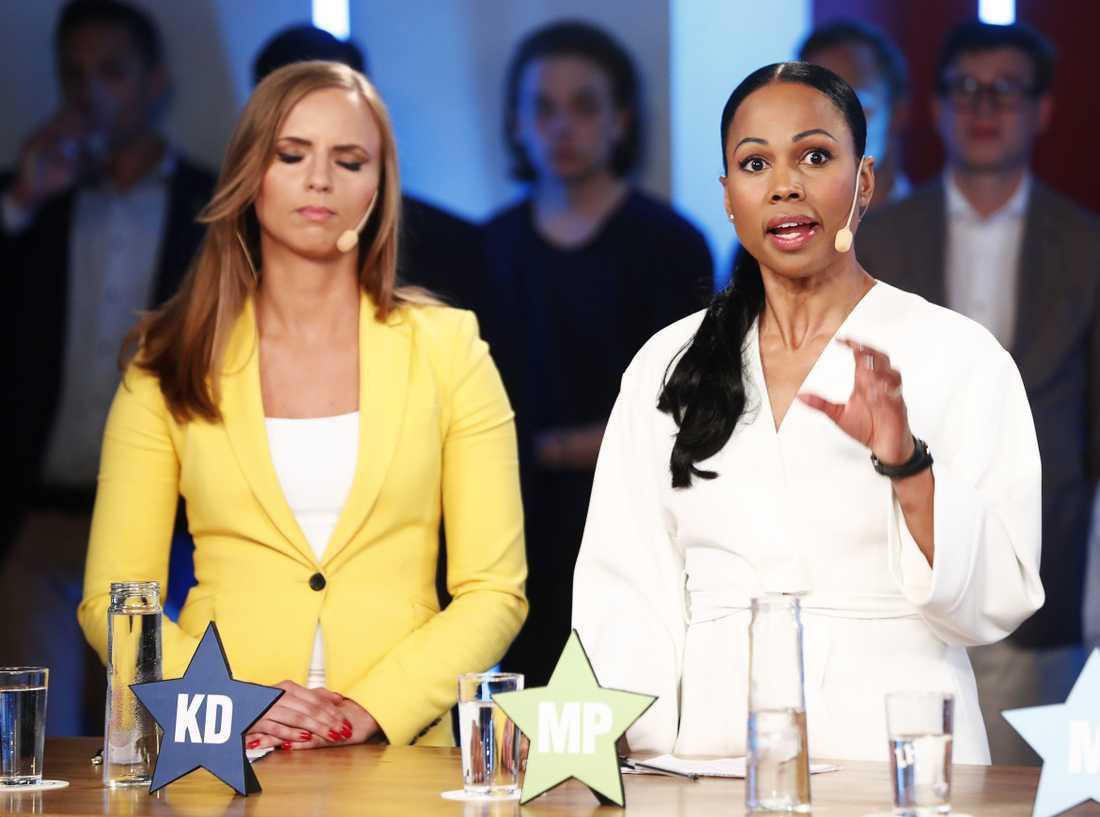 Varken Sara Skyttedal (KD) och Alice Bah Kuhnke (MP) vill att Sverige ska betala mer.