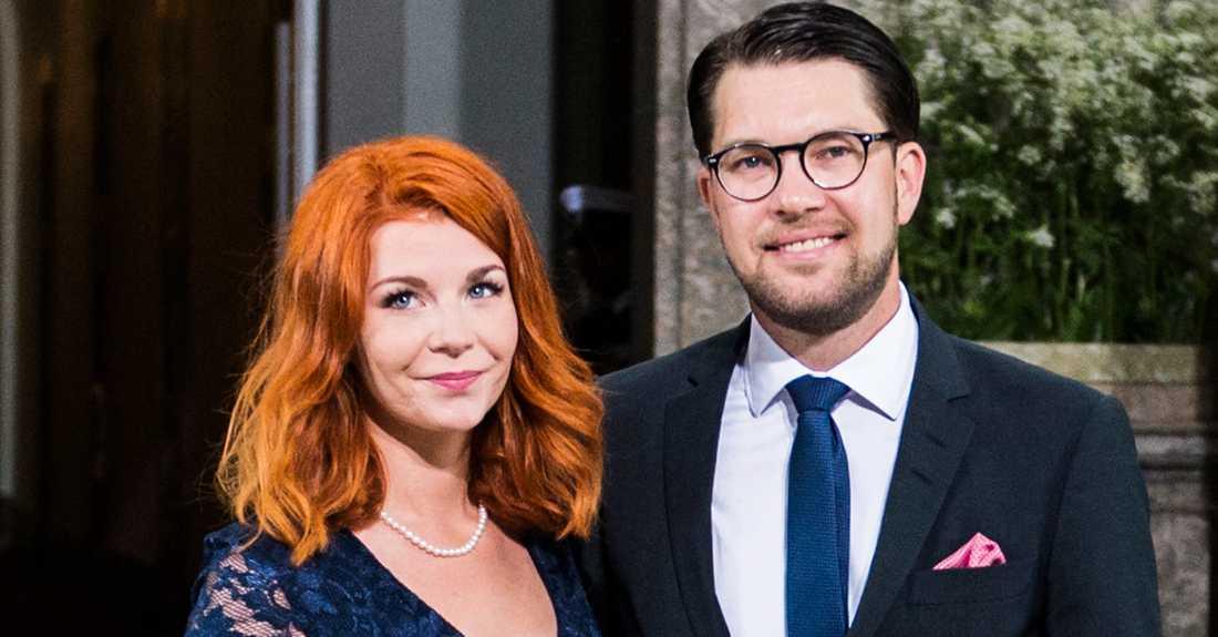 Louise Erixon och Jimmie Åkesson.