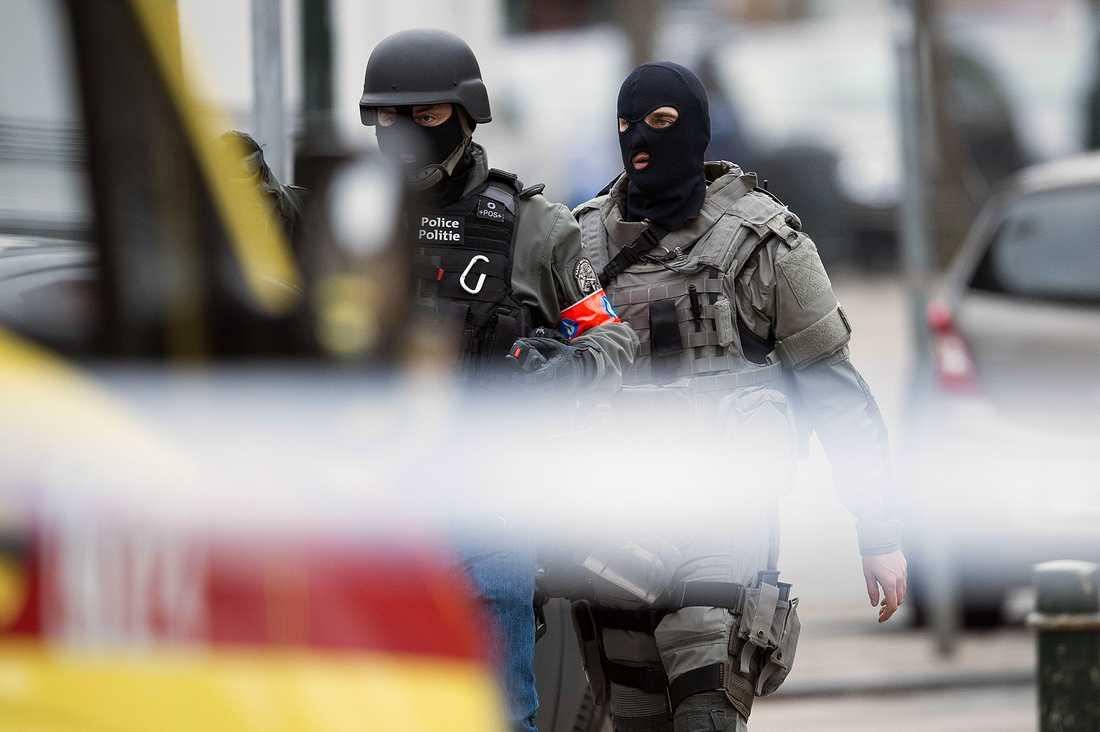 Terrorräden i Bryssel där Belkaid sköts ihjäl.