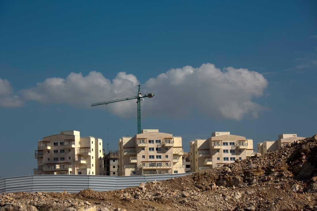 På bilden syns en av många israeliska bosättningar på den palestinska Västbanken som ockuperas av Israel. Arkivbild.