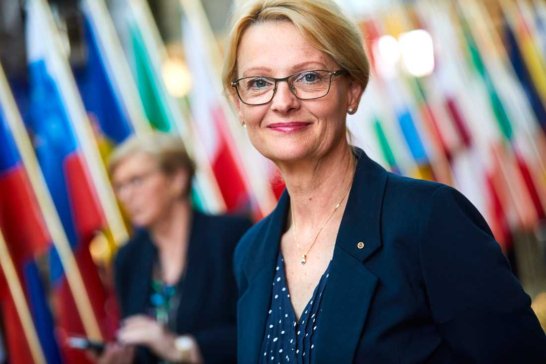 Socialdemokraten Heléne Fritzon i EU-parlamentet. Arkivbild.