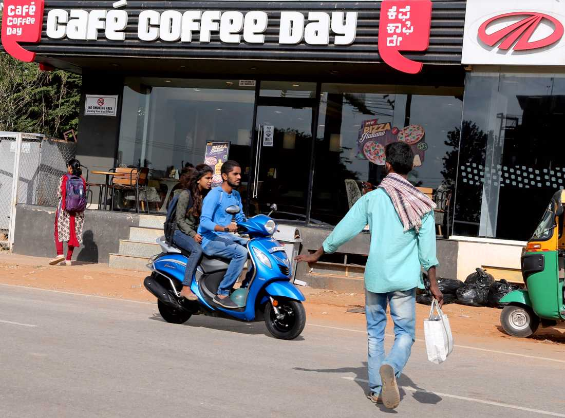 Kafeet Café coffee day i Bangalore, Indien.