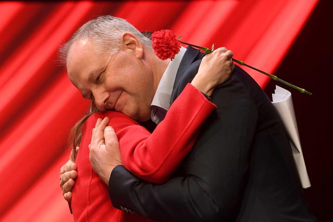 Katrin Jakobsdottir och Jonas Sjöstedt
