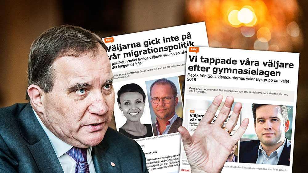 """Partiet borde stolt ha deklarerat att man genom att göra ett enskilt undantag nu tagit ansvar för en utsatt grupp som utan egen förskyllan kommit i kläm. I stället präglades retoriken kring Gymnasielagen snarare av en """"härtill var vi nödda och tvungna""""-mentalitet, skriver  Nasra Ali, Ulf Bjereld och Sören Juvas."""