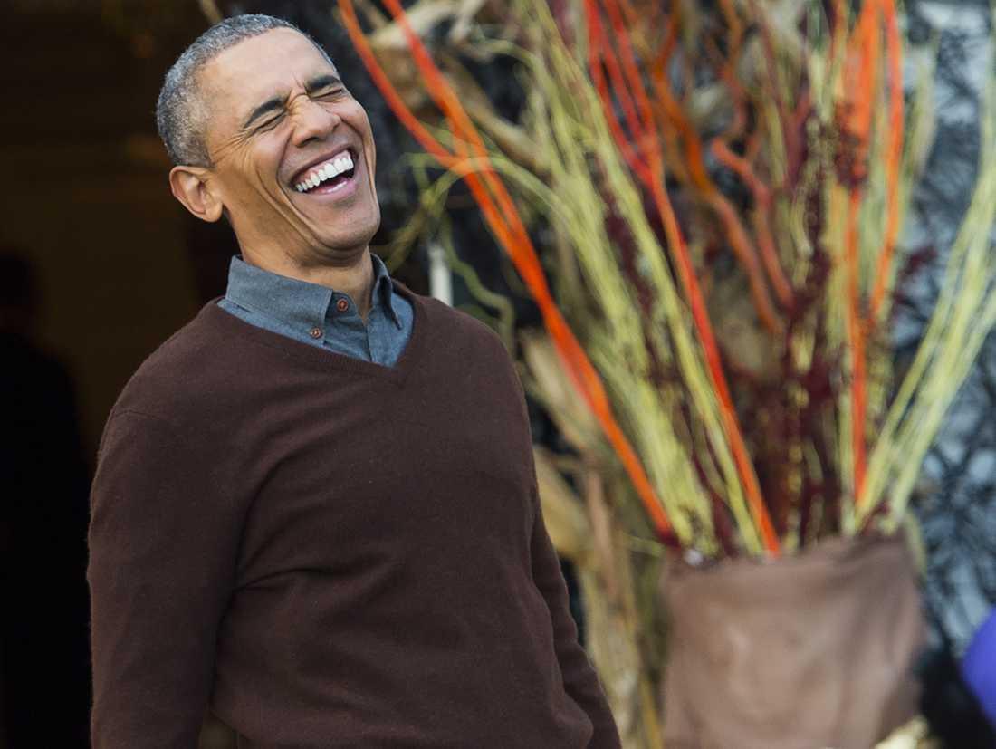 Barack Obama skrattade högt efter mötet med Anna Kendrick.
