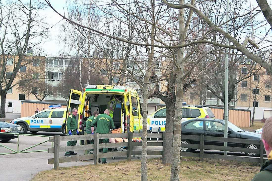 Kvinnan dömdes för dubbelmord i Växjö 2010. Bilden är tagen på mordplatsen.