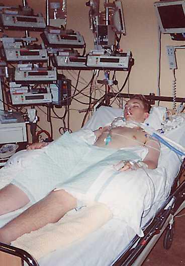 Tom Roger behandlades på hjärtavdelning i Oslo.