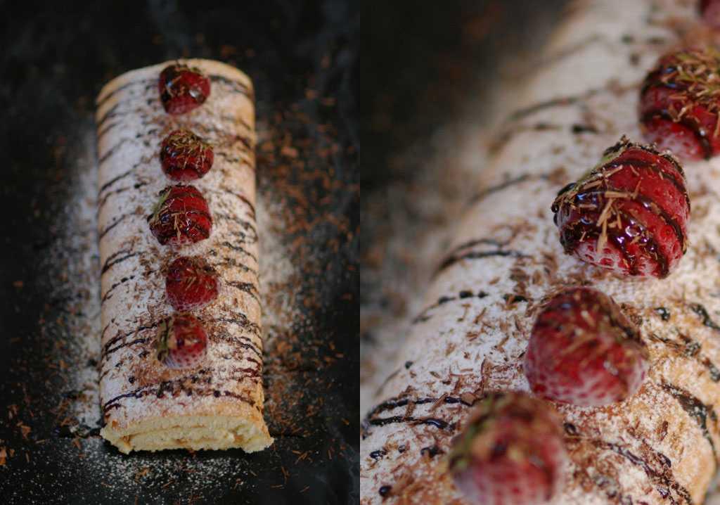 """""""Rulltårtan är enkel att göra, klassisk botten med en enkel mousse"""", säger Jennifer."""