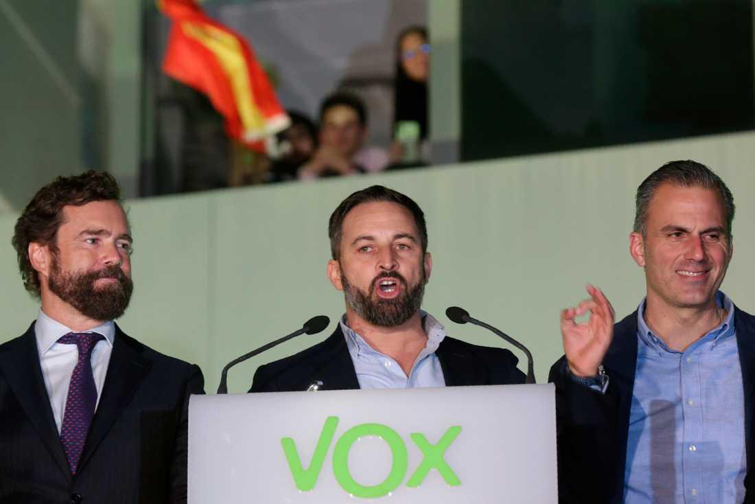 Santiago Abascal, ledare för högerextrema Vox i Spanien.