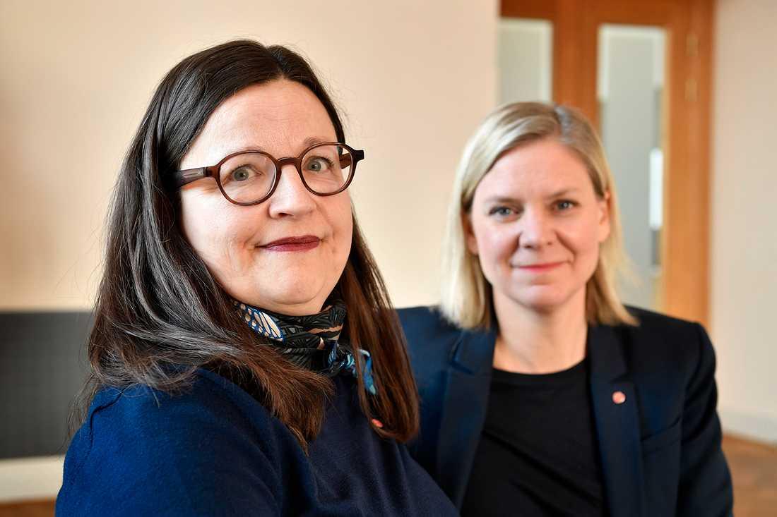 Anna Ekström och Magdalena Andersson.