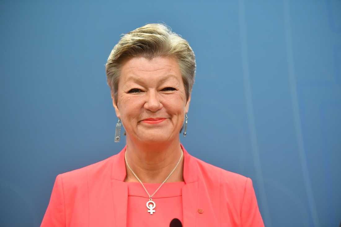 Ylva Johansson presenterades som Sveriges kandidat till EU-kommissionär vid en pressträff på i Stockholm.