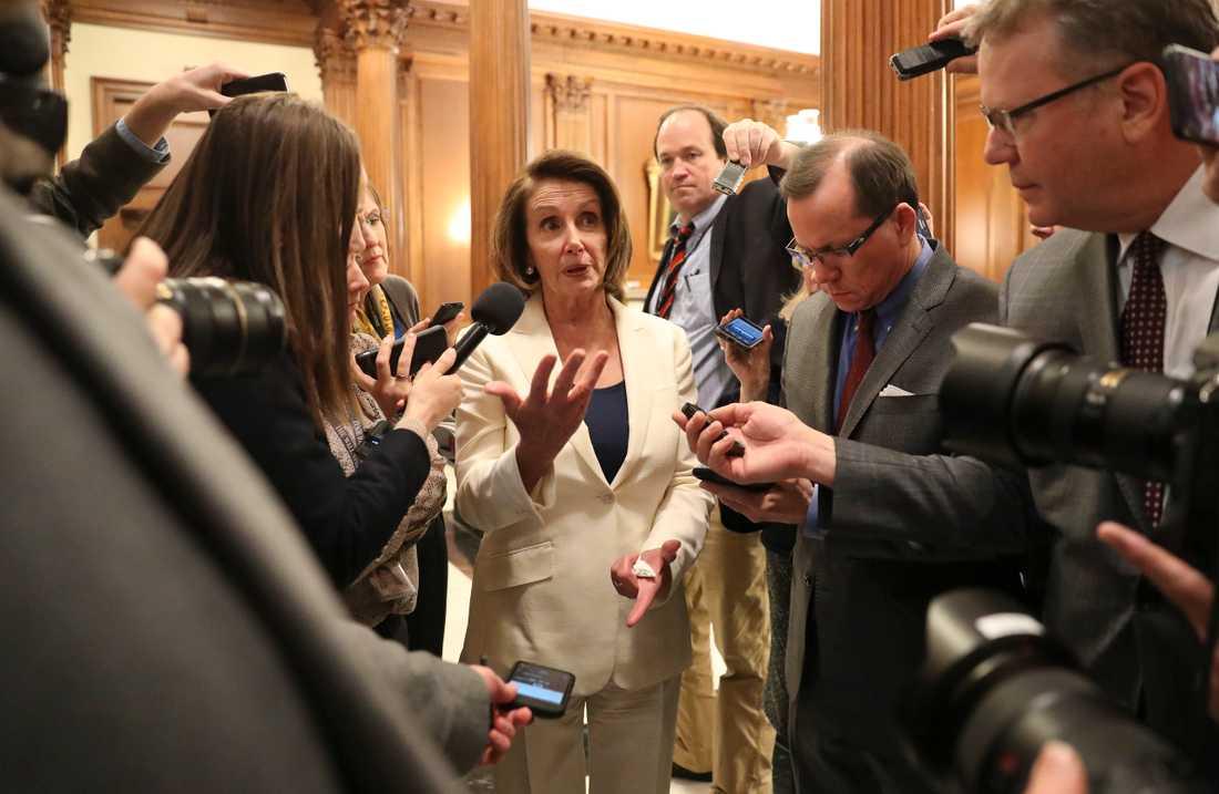 Toppdemokraten Nancy Pelosi.