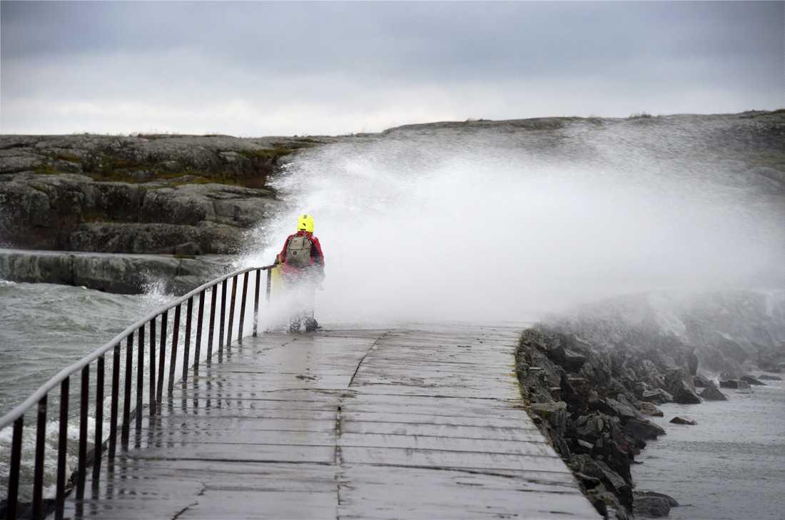 Stormen Aila har dragit in över Finlands västra kust. Arkivbild.