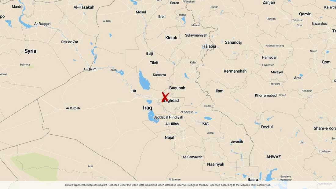 Militäranläggningen i Taji, norr om Bagdad, utsattes för en raketattack i onsdags.