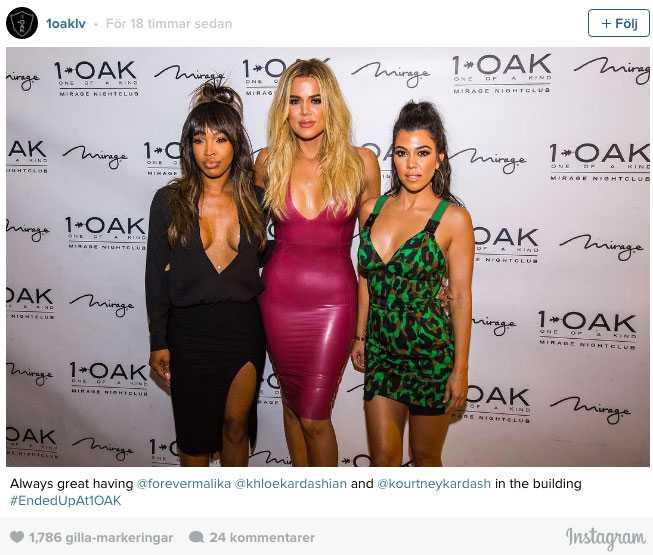 Även Kardashian-kompisen Malika Haqq var med i Las Vegas.