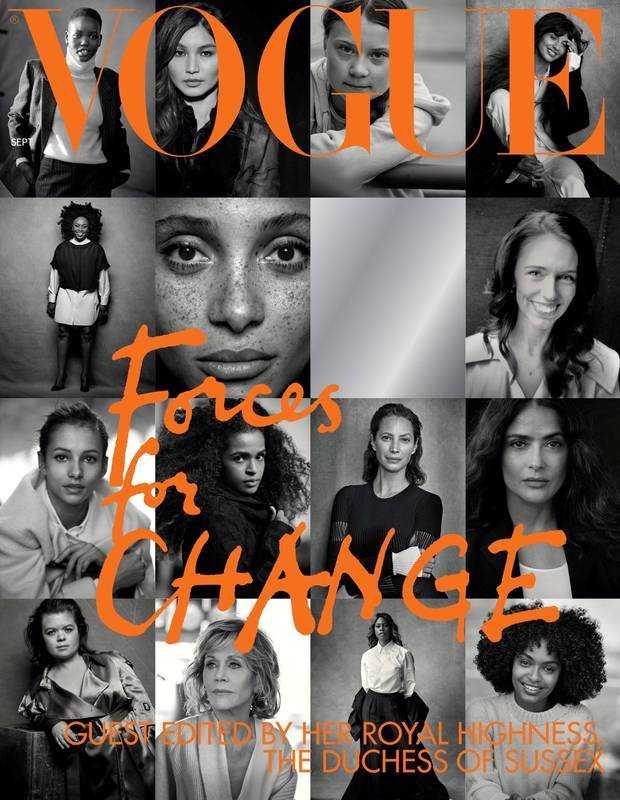 Meghan Markles omslag som gästredaktör för Vogue.