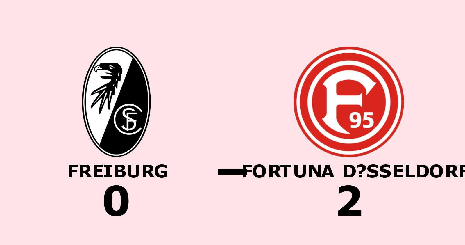 Segerlös svit bröts när Fortuna Düsseldorf vann mot Freiburg med 2–0