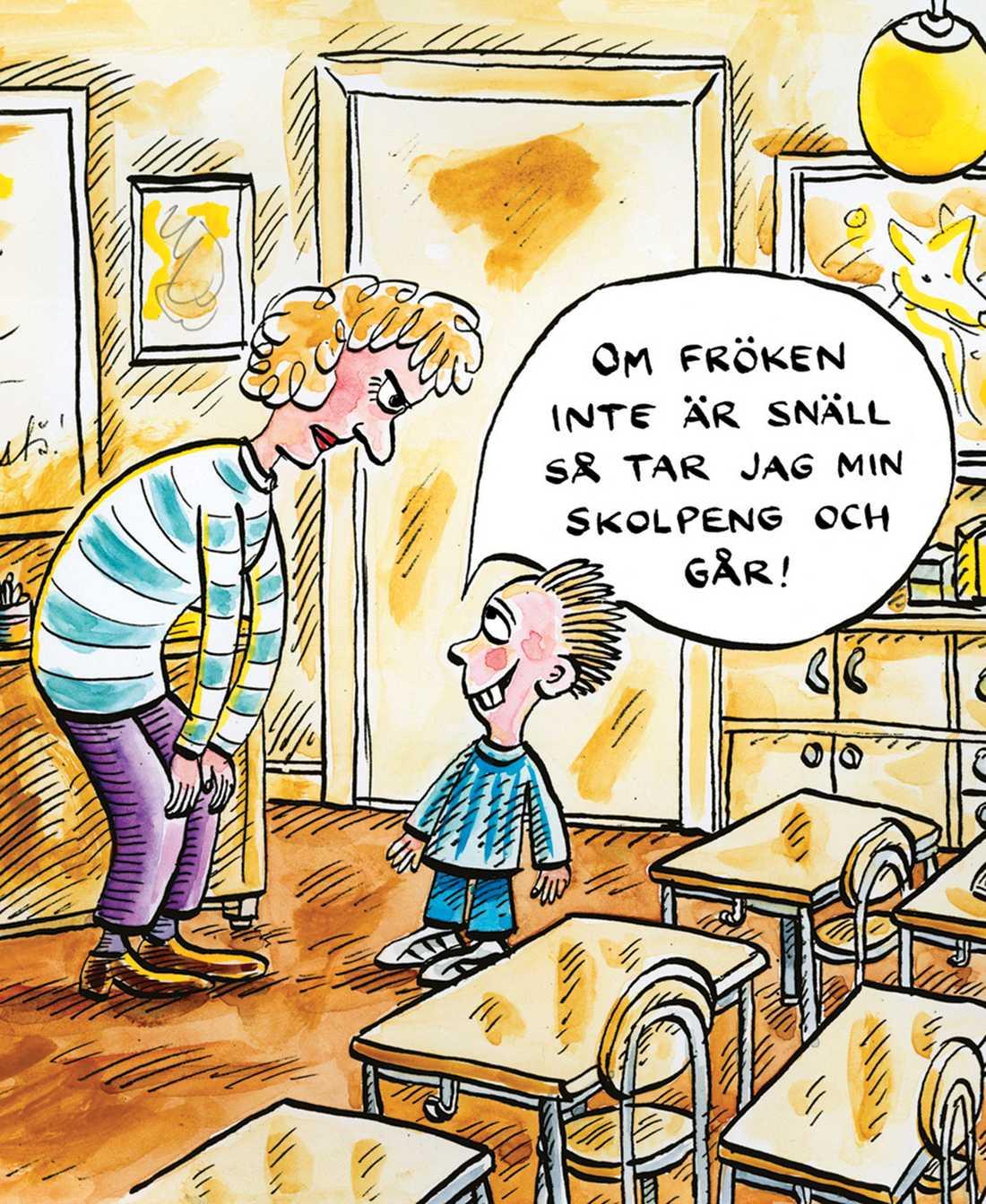 underkänt Det fria skolvalet har dramatiskt ökat skillnaderna mellan barn i den svenska skolan.