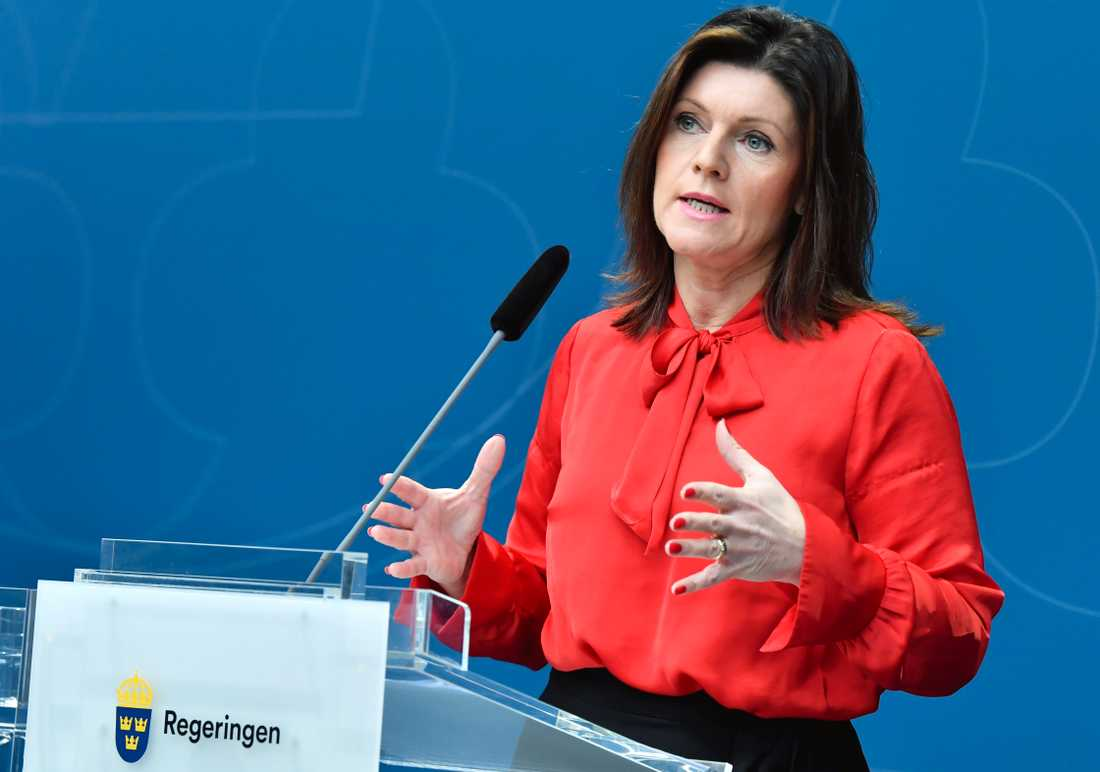 Eva Nordmark, arbetsmarknadsminister.