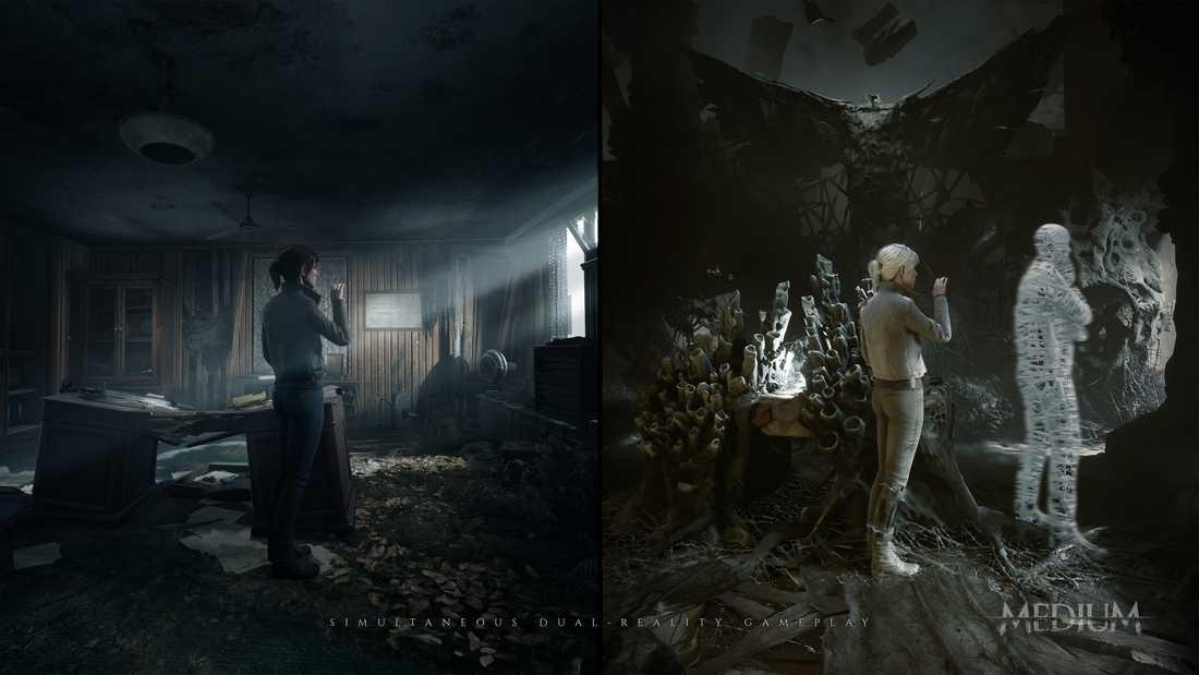 """Skräckspelet """"Medium"""" utspelar sig i två skilda verkligheter samtidigt. Pressbild."""